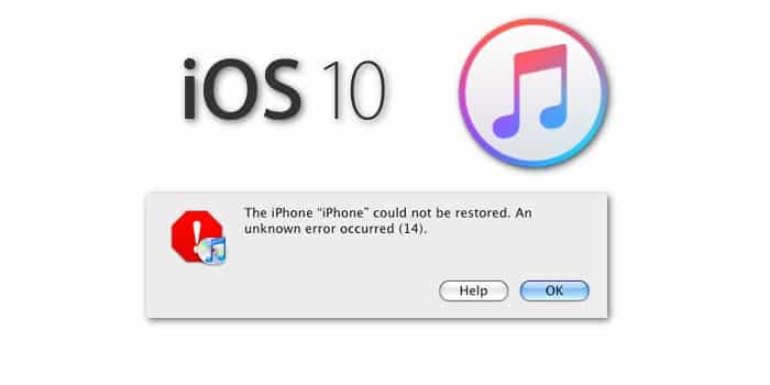 mengatasi iPhone Error 14 itunes